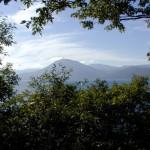 支笏湖を臨む眺め